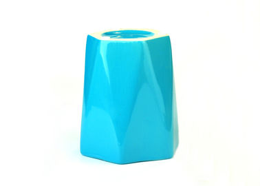 Heat Resistant Ceramic Votive Candle Holders Hexagon Shape Multi Color Available