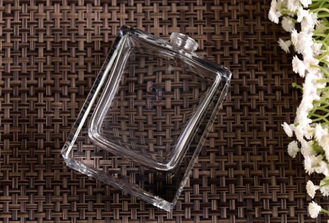 Rectangular Glass Perfume Bottles made by High white lead free glass , Glass Spray Pump Bottle