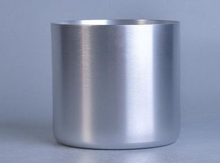 Silver Metal Candle Tin Containers For Party / Wedding , Votive Candle Holders