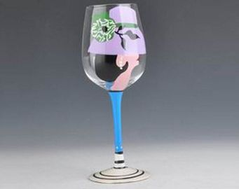 Personalised Custom Hand Painted Wine Glasses , Hand Painted Drinking Glasses